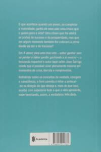 Contra capa do livro A chave para uma boa vida | Joan Garriga