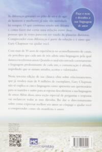 As cinco linguagens do amor - 3 edição: Como expressar um compromisso de amor a seu cônjuge | Gary Chapman - contra-capa